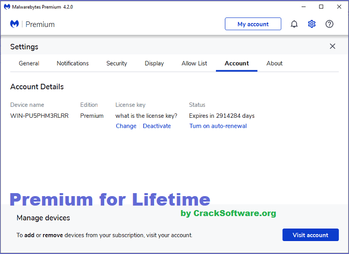 Malwarebytes Premium Full Version for Lifetime Interface