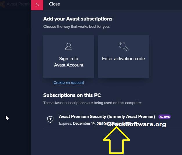 Avast Premier License Key till 2050 Successful Registered Screenshot