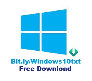 Bit.lyWindows10txt Free Windows 10 Activator Download